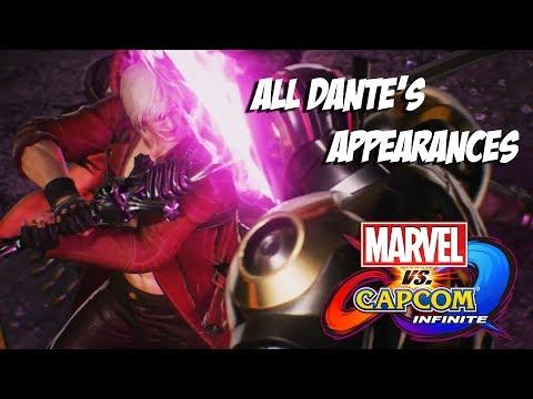 Marvel vs Capcom : Infinite - All Dante's Appearances