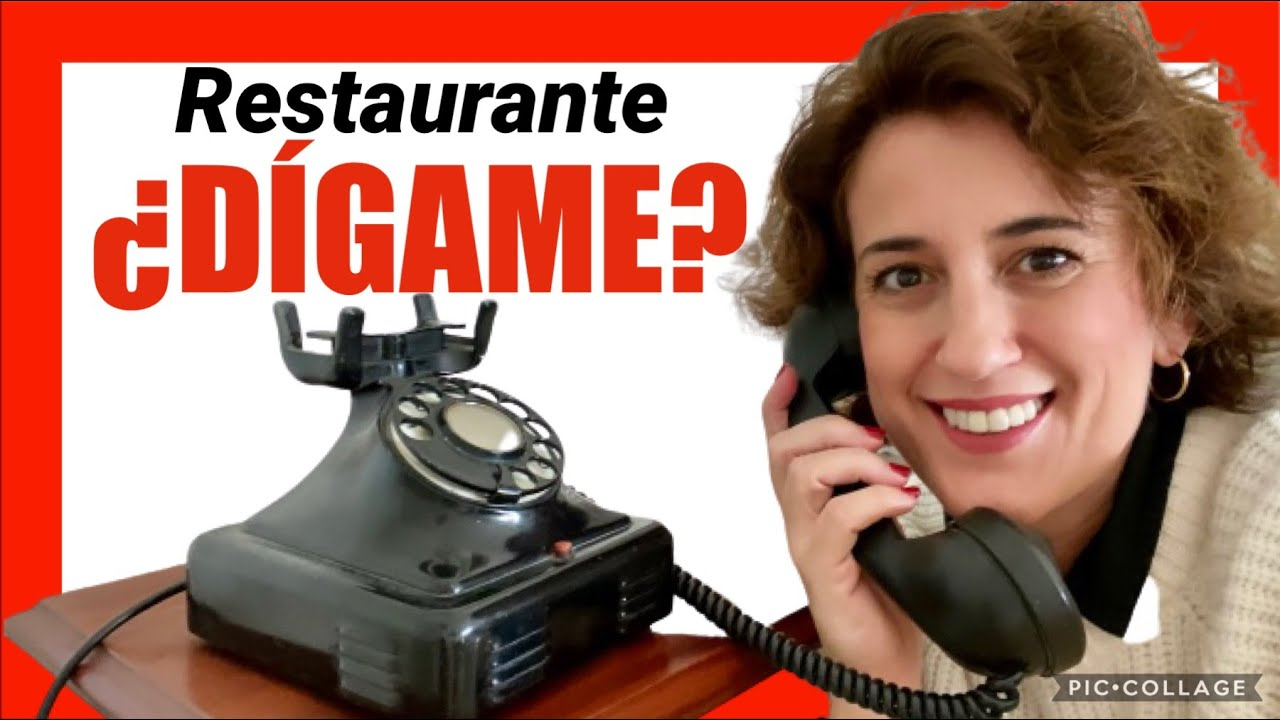 📞CONVERSACIÓN TELEFÓNICA para RESERVAR una MESA en un RESTAURANTE en español. (Book a table spanish