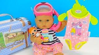 Куклы Пупсики Собираем Чемодан На море Мультик Для девочек Играем Как Мама 108mamatv
