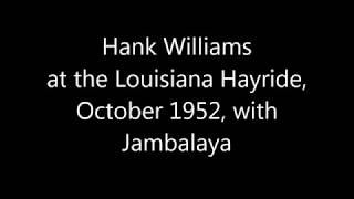 Hank Williams  - Jambalaya