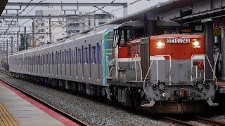 JR淡路駅にて 都営三田線6500形甲種輸送