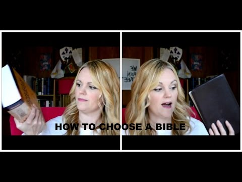 How to Choose a Bible
