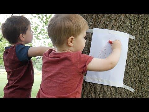 Tree Bark Rubbing - Outdoor Activities #1
