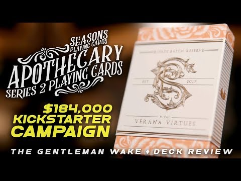 $184,000 RAISED ON KICKSTARTER! Apothecary Series 2 Playing Cards Deck Review GIVEAWAY