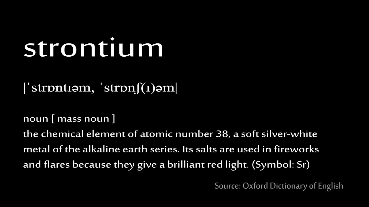 38 Strontium How To Pronounce Chemical Elements Periodic Table