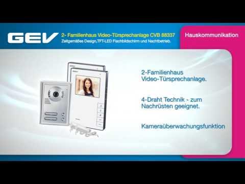 GEV 2- Familienhaus Video-Türsprechanlage CVB 88337