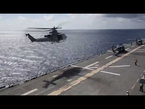 Marine Helo Evacuates Virgin Island Patients
