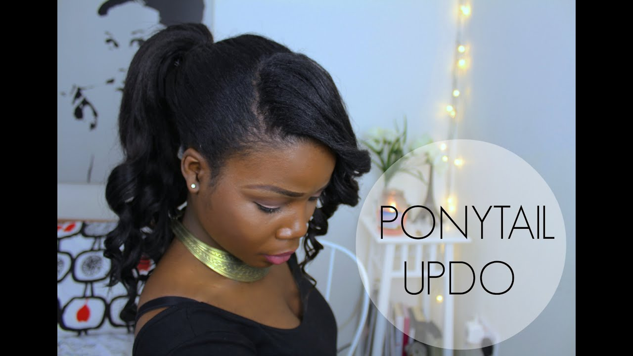 ponytail hairstyle updo with bangs ♥ | african hair - youtube
