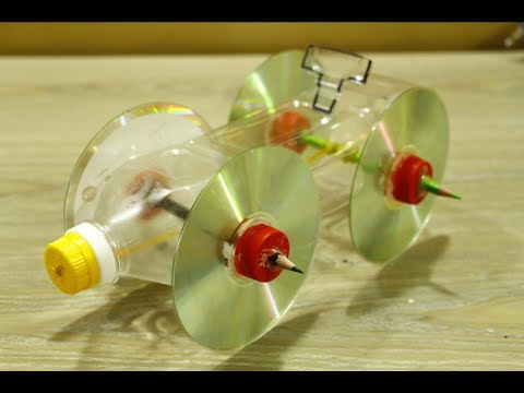 How To Make DIY Auto Rubber Band car - Cool Plastic Bottle Idea