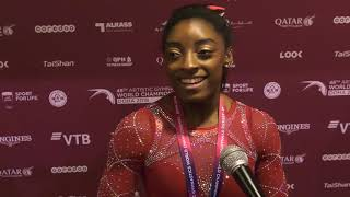 Simone Biles - Interview - 2018 World Championships - Events Finals