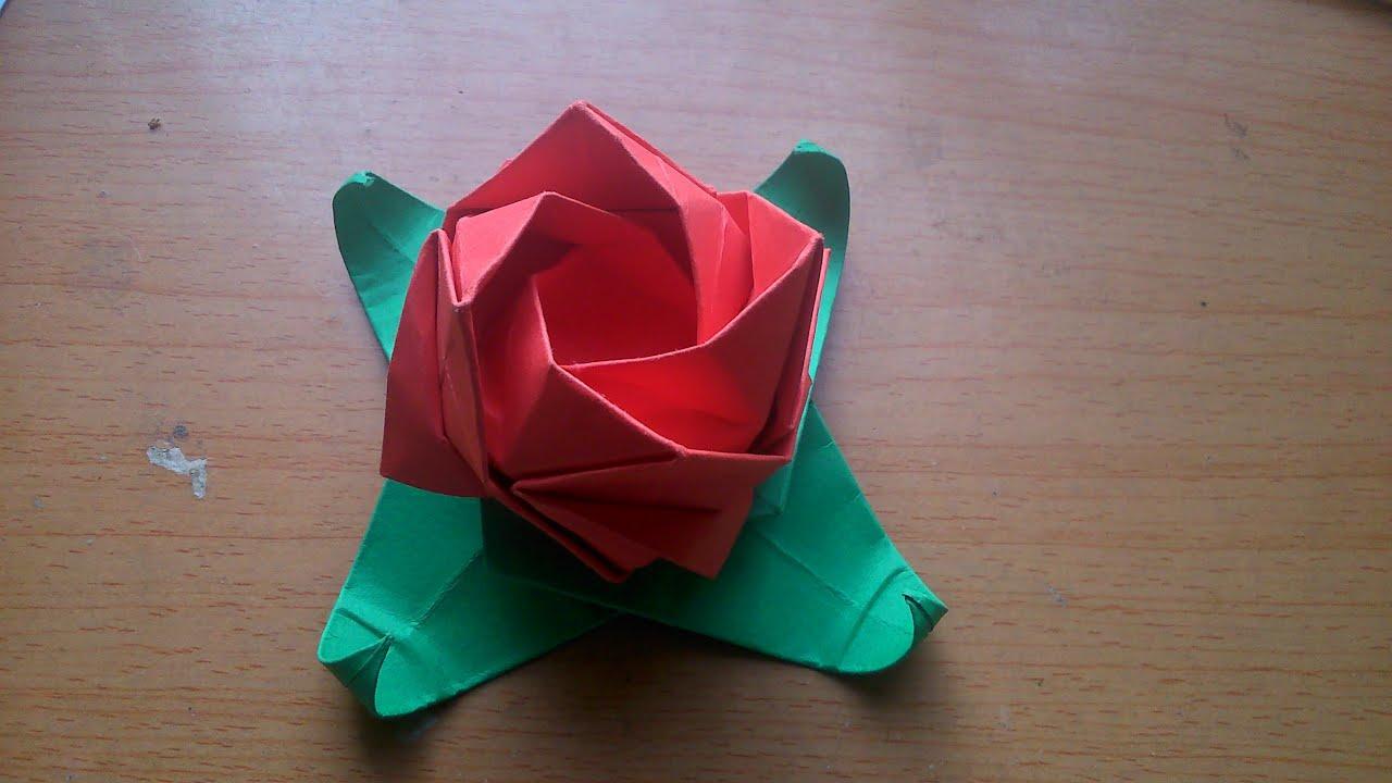 Kawasaki Rose And Base Origami