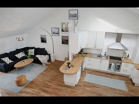 ГОСТИНАЯ с мини кухней 15 м2. Современные идеи - YouTube