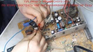 телевизор rubin шасси м06 не включается моргает светодиод(снова конденсаторы)
