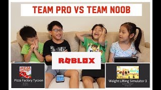 Playing ROBLOX for the First Time! Team Pro vs Team Noob | Game On!