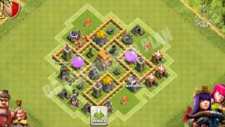 Clash of Clans Town Hall 5 Defense BEST CoC TH5 Farming Base Layout Defense Strategy