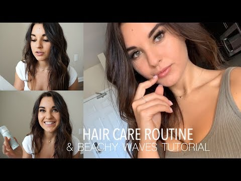 Hair Care Routine & Beachy Waves Tutorial thumbnail