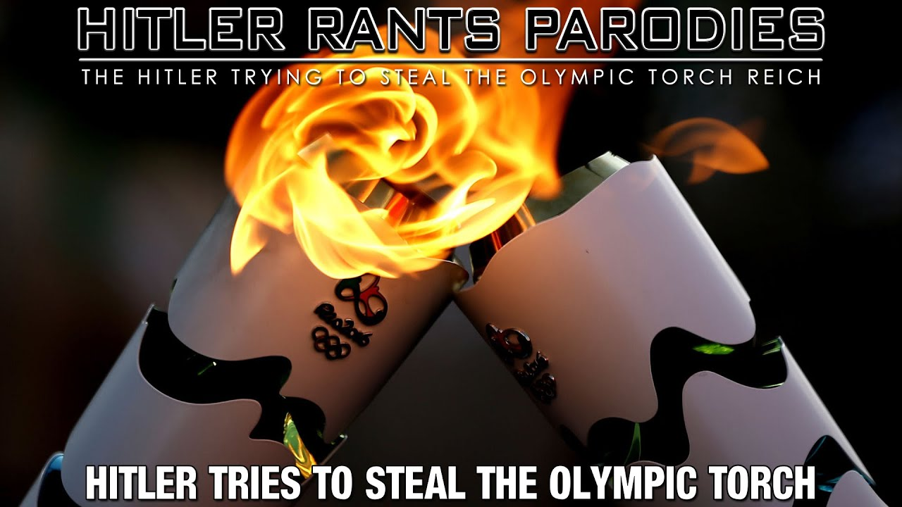 Hitler tries to steal the Olympic torch