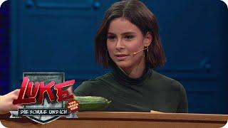 Lena Meyer-Landrut zockt beim Gemüse-Quartett