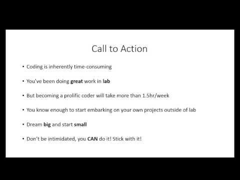 Lesson 4 - Motivation/Recap/Live Coding