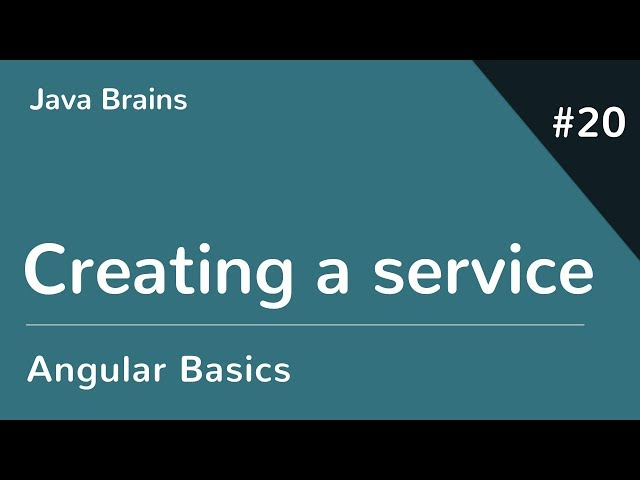 Angular 6 Basics 20 - Creating a service