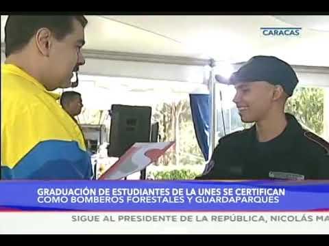 Presidente Maduro en acto de graduación por el Día del GuardaParques