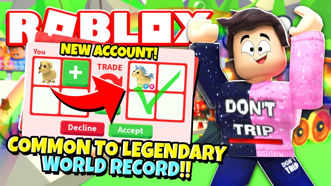 Jeremy Youtube Roblox How To Trade Common To Legendary In 10 Minutes In Adopt Me Roblox Youtube