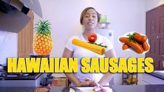 HAWAIIAN SAUSAGES RECIPE FOR MY KIDS  DIANA BAHATI