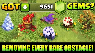 REMOVING ALL RARE OBSTACLES FROM MY VILLAGE AND SEE WHAT I GOT 😲 IN CLASH OF CLANS INDIA 🇮🇳