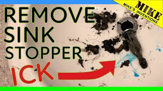 Removing A Sink Drain Stopper To Unclog It Mikes Inventions Youtube