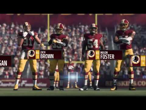 Madden 18 - Dallas Cowboys vs Washington Redskins - Full Game Simulation Nation