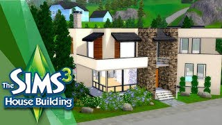 CASA MODERNA Y BONITA EN LOS SIMS 3 (JUEGO BASE) | Speed Build