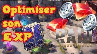 Optimiser son EXP /RAID :Shadow legends