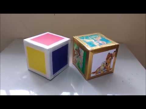 Como Hacer Un Cubo Fácil Rápido Resistente Manualidades