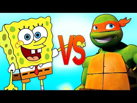 ГУБКА БОБ VS ЧЕРЕПАШКИ НИНДЗЯ | СУПЕР РЭП БИТВА | Spongebob Squarepants ПРОТИВ Ninja Turtles episode