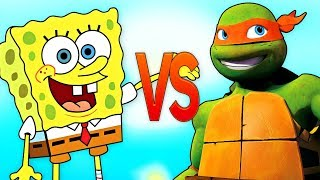 - ГУБКА БОБ VS ЧЕРЕПАШКИ НИНДЗЯ СУПЕР РЭП БИТВА Spongebob Squarepants ПРОТИВ Ninja Turtles episode