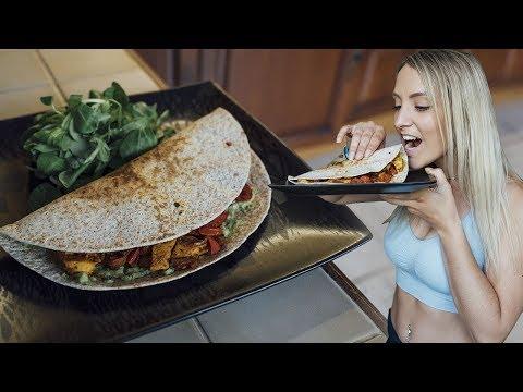 recette-healthy-:-tacos-wrap-au-poulet-mexicain- -vlog-27