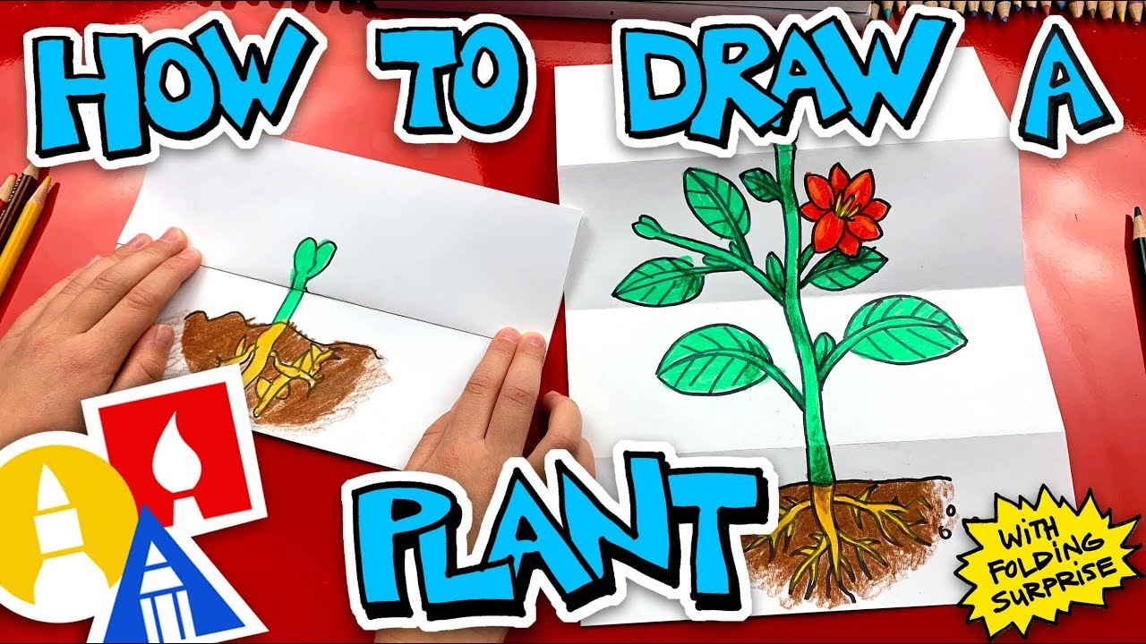 How To Draw A Plant With Folding Surprise