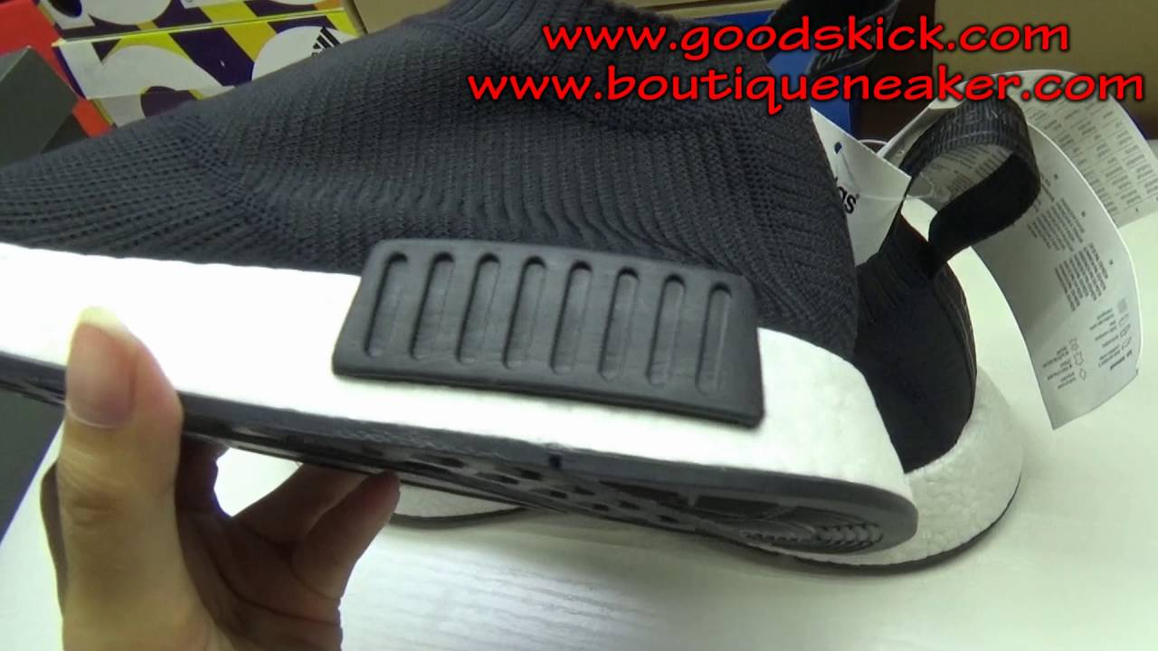"""e5b124bf092d0a Adidas NMD City Sock """"Core Black""""S32184 unboxing review from goodskick.com"""
