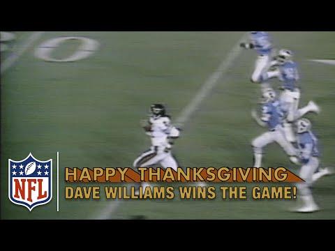 Dave Williams Game-Winning Kickoff Return TD in OT! (1980) | Bears vs. Lions | NFL on Thanksgiving