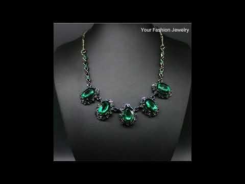 Crystal necklace jewelry,fashion jewelry,jewellery daimond, blue Crystal