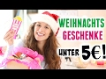 WEIHNACHTSGESCHENKE für UNTER 5€! ♡ BarbieLovesLipsticks