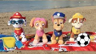Paw patrol español:Chase! fiesta y juegos en playa con cachorros patrulla canina.Pups beach party