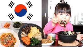 Rino eating homemade Japchae&Stone scorch Bibimbap