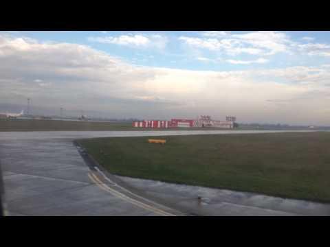 Landing at Bratislava airport BTS