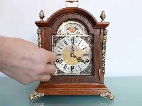 WARMINK CLOCK TRIPLE CHIME Mantel MOONPHASE Germany Westminster Vintage SERVICED