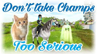 Never take a champ too Serious SGC Star Stable
