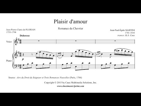 Martini : Plaisir d'amour - Voice (1/6 : Very High, G Major)