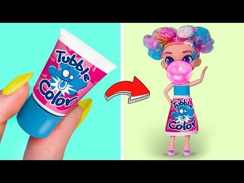 Ihr Seid Nie Zu Alt Für Puppen / 5 DIY Barbie Süßigkeiten Outfits