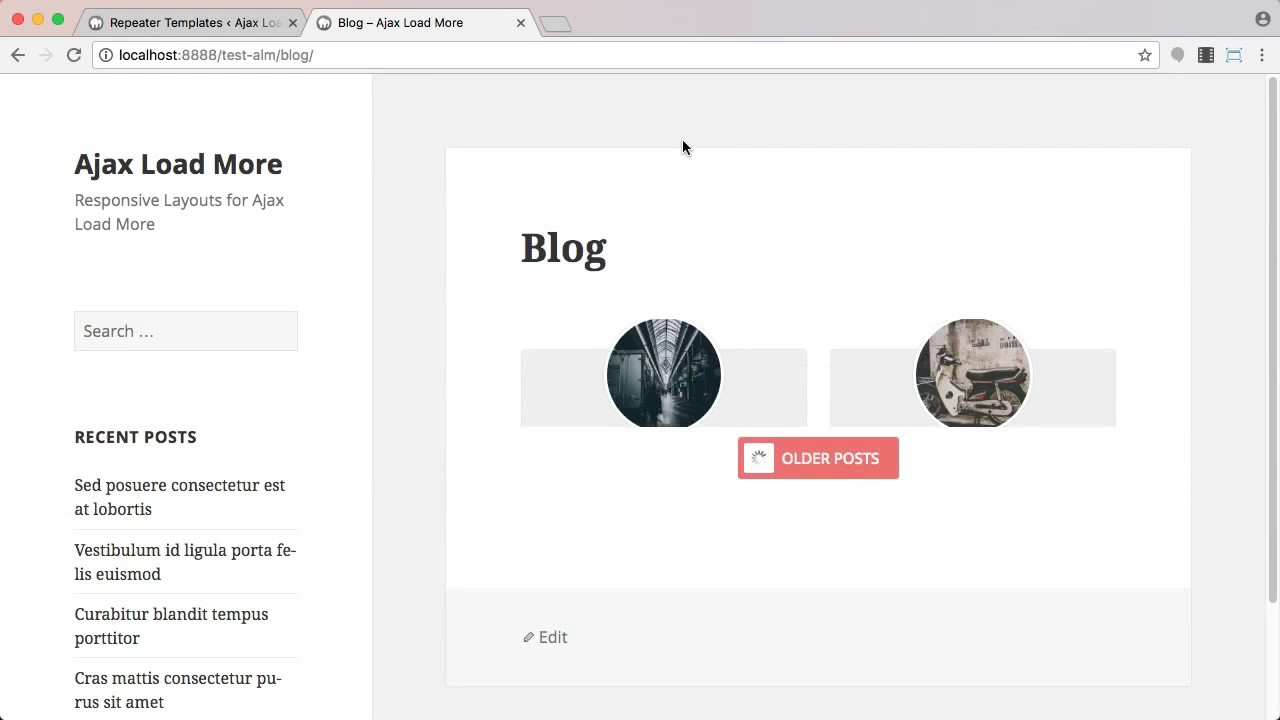 Predefined Responsive Layouts for Ajax Load More
