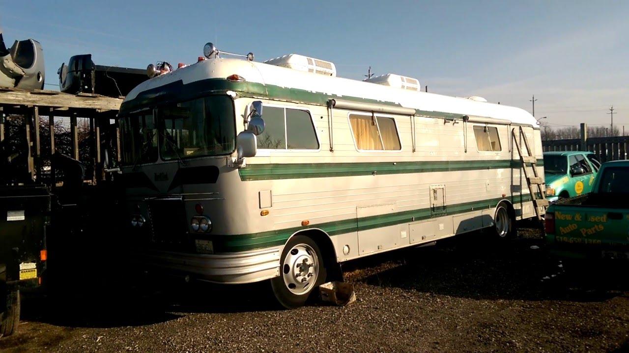 Mint 1969 Newell Coach RV Full Junk yard Walk- Around